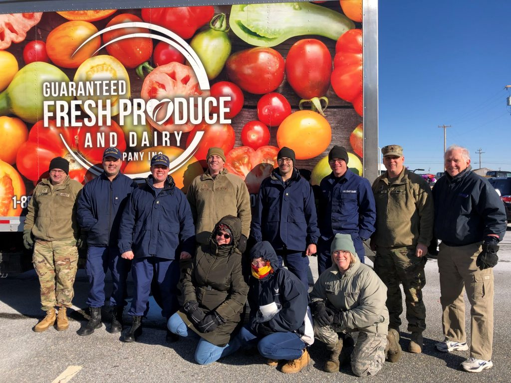 Heroes In Transition's 2019 holiday gift package delivery to Joint Base Cape Cod.