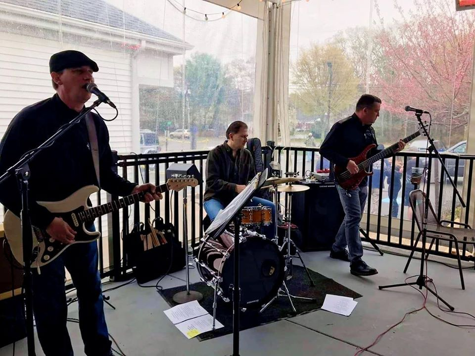 The Rick Lockwood Trip performing at last year's Ruck4HIT finish line party at Dino's Sports Bar in Mashpee
