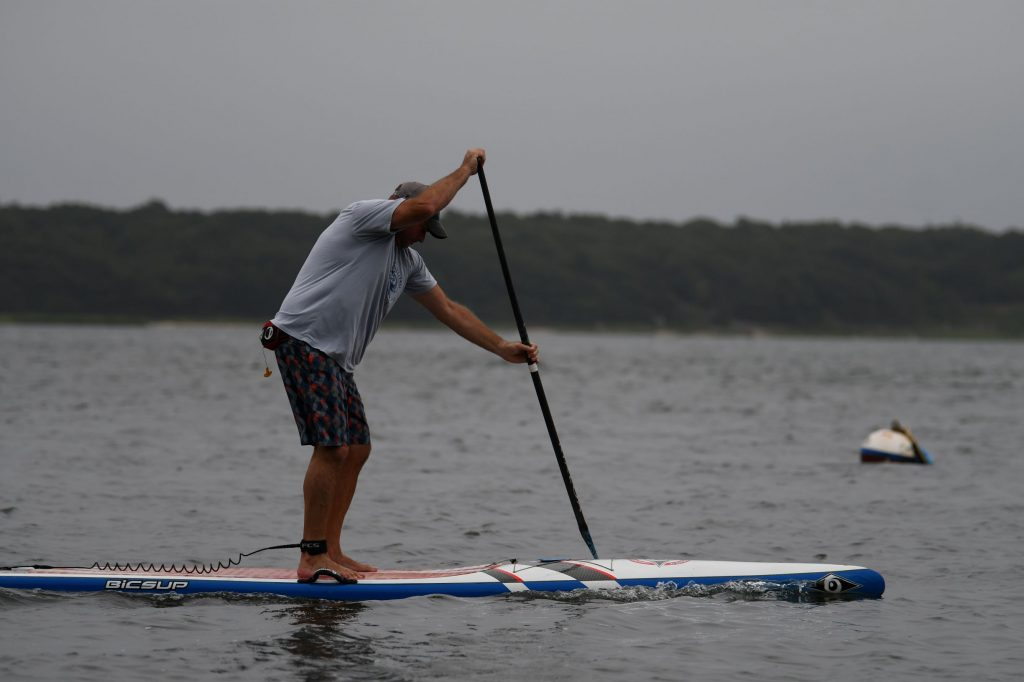 Jason Chorches on his Stand Up Paddleboard