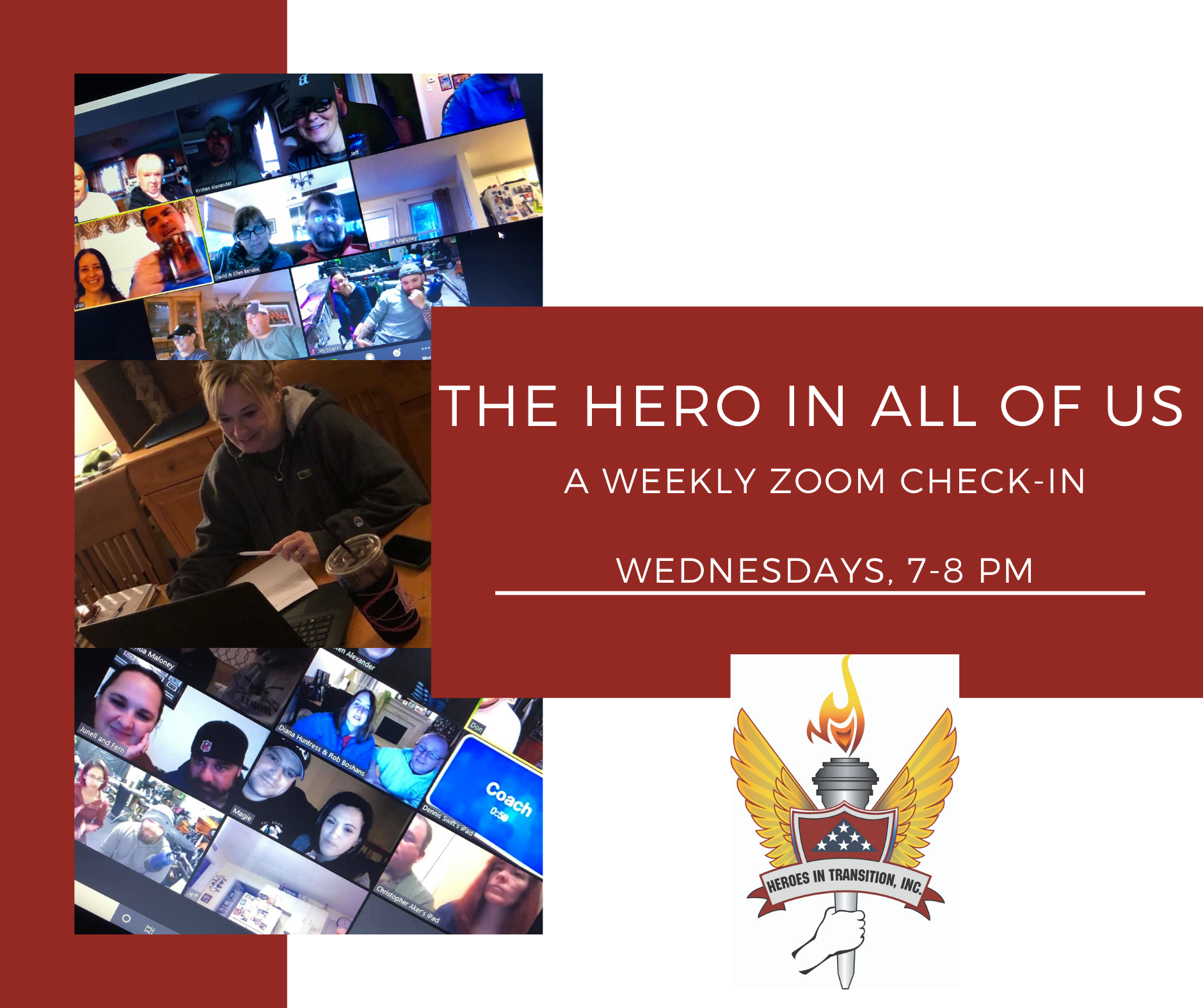 The Hero In All Of Us Zoom Session graphic