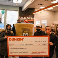 Dunkin Donuts check donation to Heroes In Transition