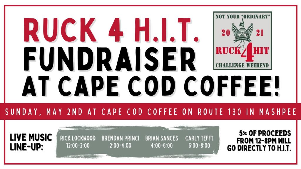 Cape Cod Coffee Ruck4HIT Fundraiser graphic