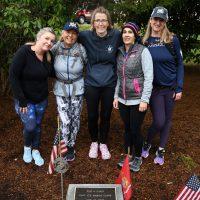 Old Mother Rucking Gals at Marine Captain Eric Jones memorial stone in Mashpee