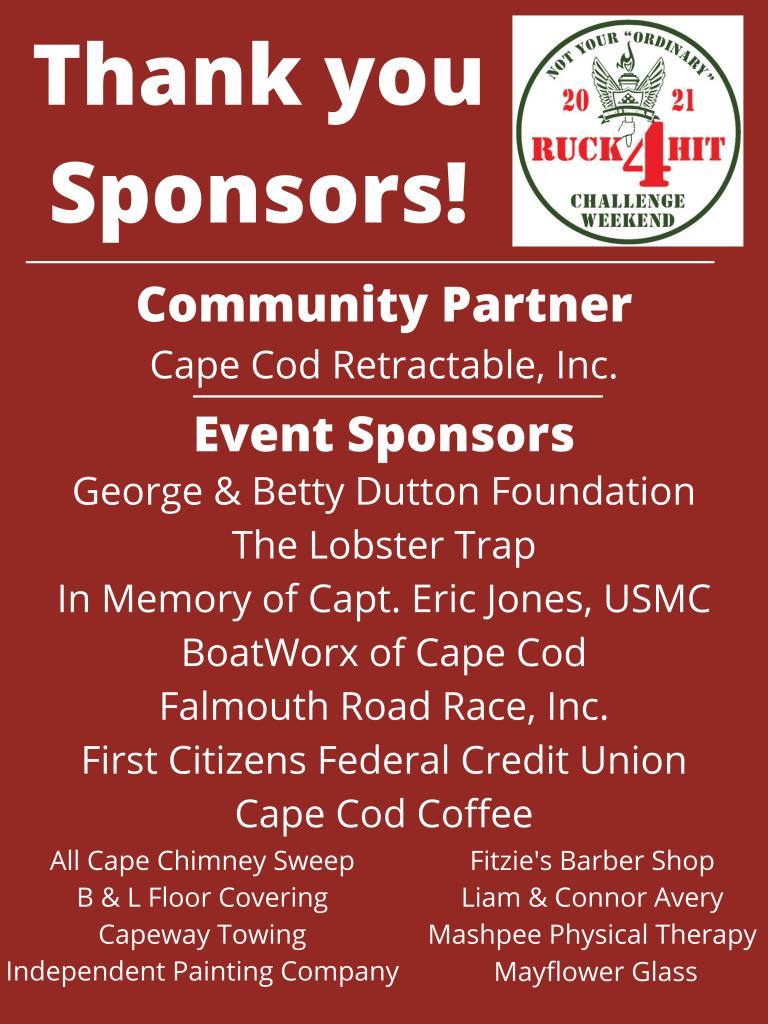 List of 2021 Ruck4HIT sponsors