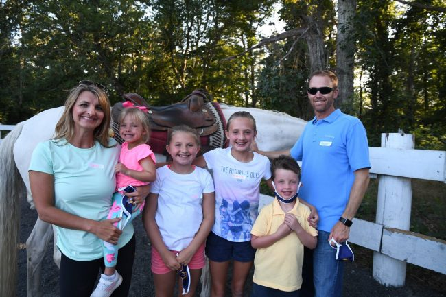 The Van Huysen family at Families In Transition (FIT) Camp in 2020.