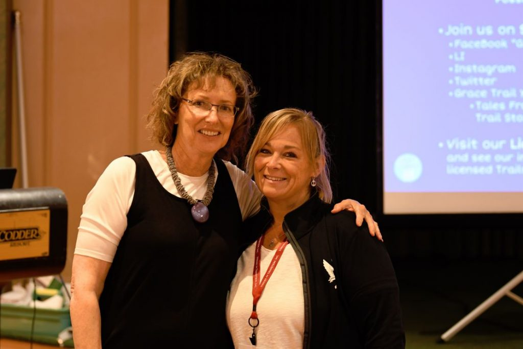 Author Anne Jolles with Heroes In Transition Couples Coordinator Kristen Alexander.