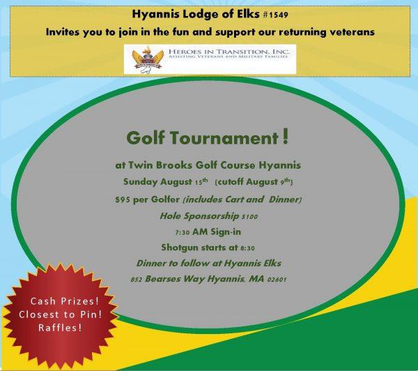 Hyannis Elks Golf Tournament graphic