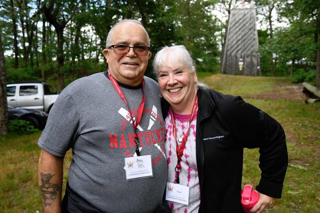 Sue and Donald Douglas at Heroes In Transition's 2021 Spring Couples Retreat