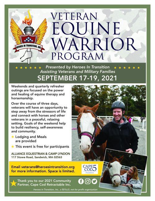 Equine Warrior Program flier